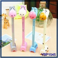 cheap school stationery cute giraffe hippo animal ballpoint pen ball pen