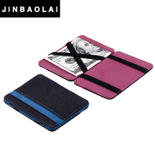 Best slim pu magic <strong>wallet</strong> with elastic straps