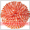 Orange Stripe Paper Pom Poms Hanging Flowers Ball for Birthday