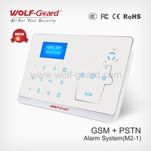 GSM + PSTN Wireless Security Burglar Intruder Alarm System Auto Dialer for Home Office , Touch Keypad , LCD Display