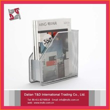 Office Supply, Metal Grey Magazine Holder, Mesh Document Holder Magazine File Boxes