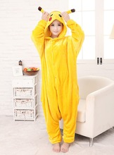 Walson hot new unisex onesie adultos <span class=keywords><strong>pijamas</strong></span> cosplay ropa <span class=keywords><strong>de</strong></span> noche del traje animal unisex pikachu mascot costume