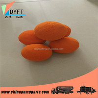 concrete pump orange natural dn125 column rubber foam cleaning sponge balls