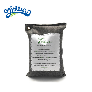 Free sample bamboo charcoal bag air purifying bag absorb odor and air moisture freshener