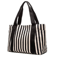 BSCI SEDEX Pillar 4 really factory audit Striped Cotton Heavy Canvas Shoulder Hand Bag for Women