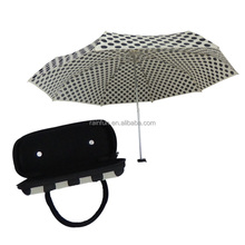 Polka dots printing compact travel umbrella with box
