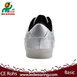 sneakers led GIRL eva insole material and lace-up style genuine leather sneakers fashion 2014 led shoes