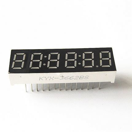"0.36"" inch 6 digits red clock 7 segment led display 3662AS/3662BS"