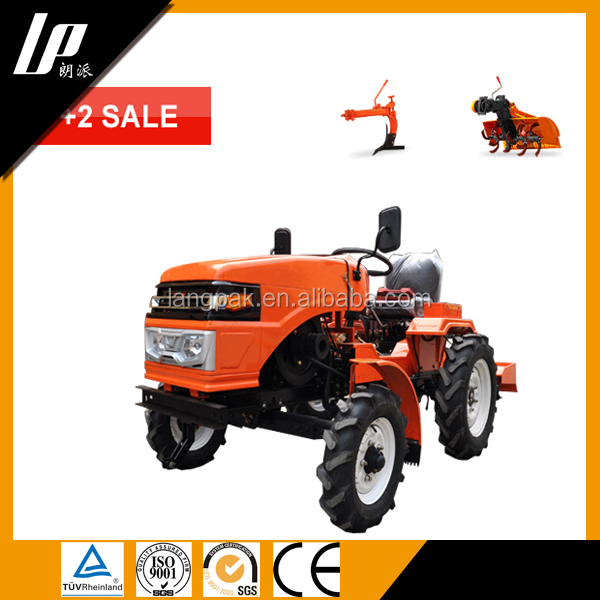 2016 factory supply cheap Multi purpose 12hp 15hp small tractor/garden tractor/farm mini tractor