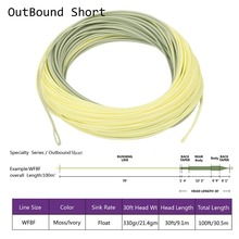 High quality double color outbound short fly fishing line