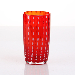 Clear/corlored glass tumbler/highball glass with dot design
