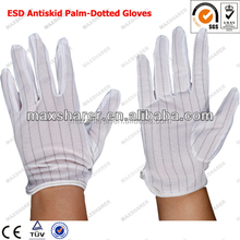 C0502 ESD Gloves/ESD Dotted Gloves/ ESD Gloves With PVC Dots