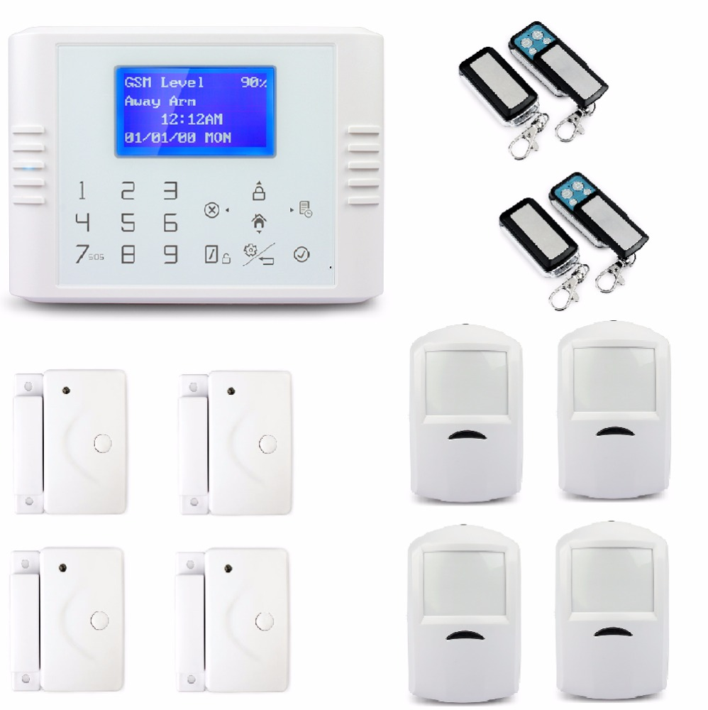 LCD touch screen keypad, wireless intelligent auto dial solar powered gsm alarm system,free shipment DHL quick delivery