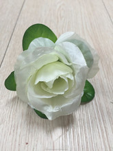 artificial flower head white rose artificial wedding flower home decoration silk flower head manufacturer