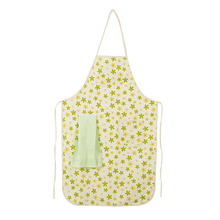 Yellow Flower Pattern Durable Waterproof Women Cooking Apron