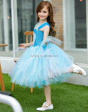 Elsa Snowflake Princess Girls Tutu Dresses For Holiday Birthday Party and Photography