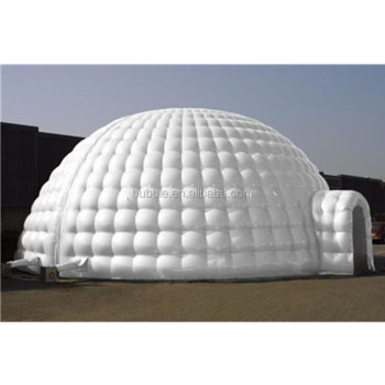 2018 new design inflatable dome tent with tunnel gate