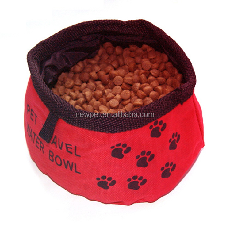 Custom wholesale nice grade oxford cloth waterproof travel bowl ceramic food bowl for dog