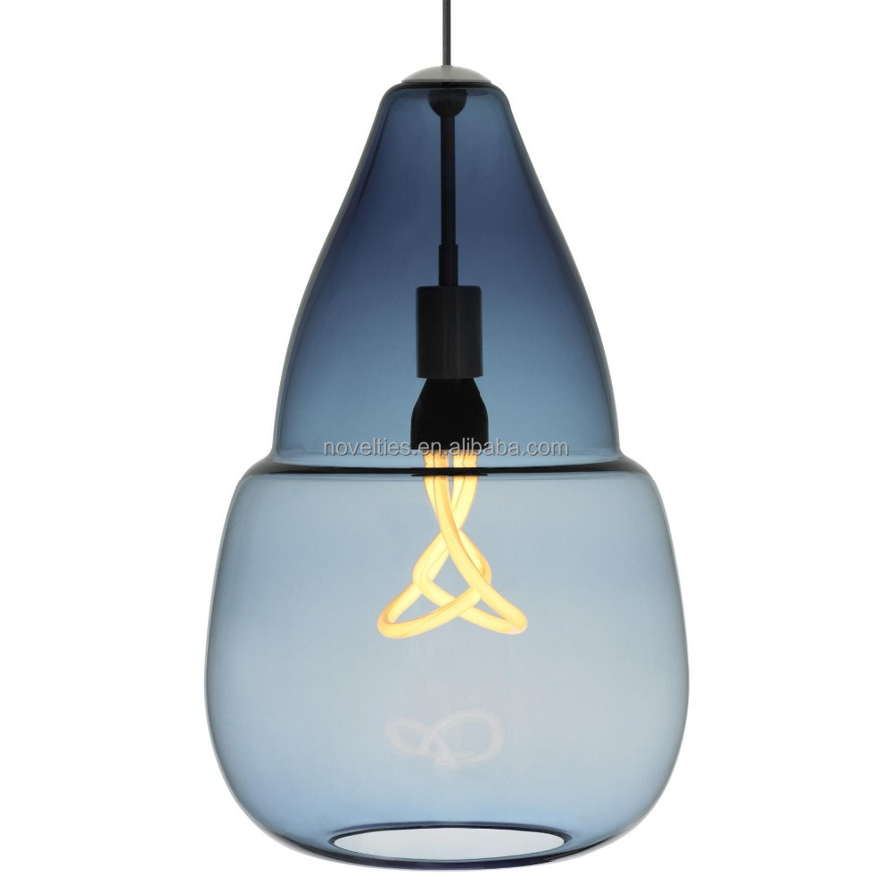 Concise glass shade and E27 hang pendant light with dinning room