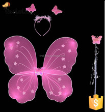 Wholesale cheap single layer fairy kids butterfly wings Halloween pink butterfly wing for sale
