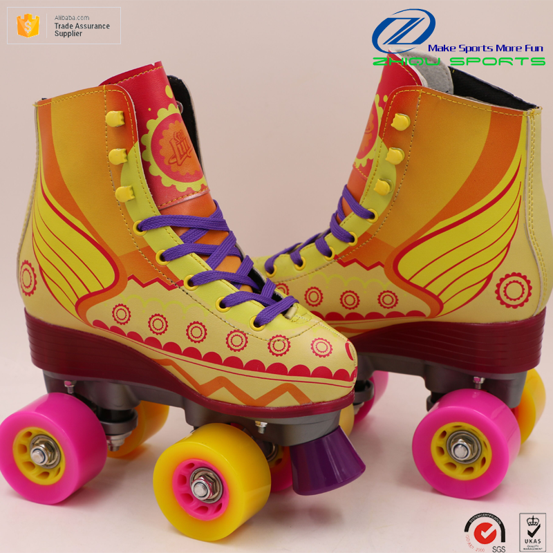 Newest soy luna series 60*32mm PU wheels 4 ruedas Quad roller skates shoes for teenagers and kids