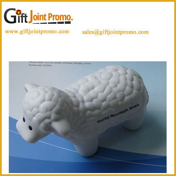 Promotional PU stress foam ball/ PU toy sheep