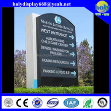 Aluminium building directory wayfind sign,advertising illuminated led pylon sign