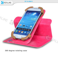 360 degree rotating leather universal mobile phone cases, stand case for universal cell phone case