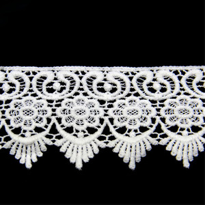 5.5cm Free Sample Lace Manufacturer 100% Cotton Embroidery Lace Trim