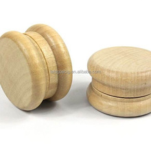 Hot Sale Custom wholesale 2 parts wood pipe tobacco smoking wooden weed grinder