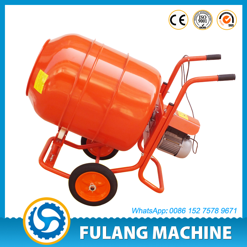 FULANG MACHINE FL300 wheelbarrow hand concrete cement drum mixer