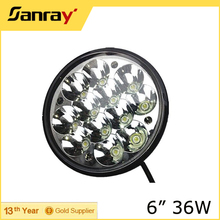 6'' 36W hi/lo beam LED headlight work light for truck tractor