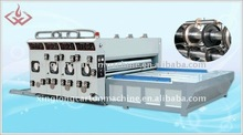 two color corrugated flexo printing slotting machine