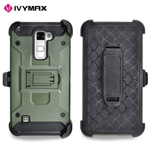 High Impact Dual Layer Holster combo Universal Case With Kickstand for LG Stylus 2 K520