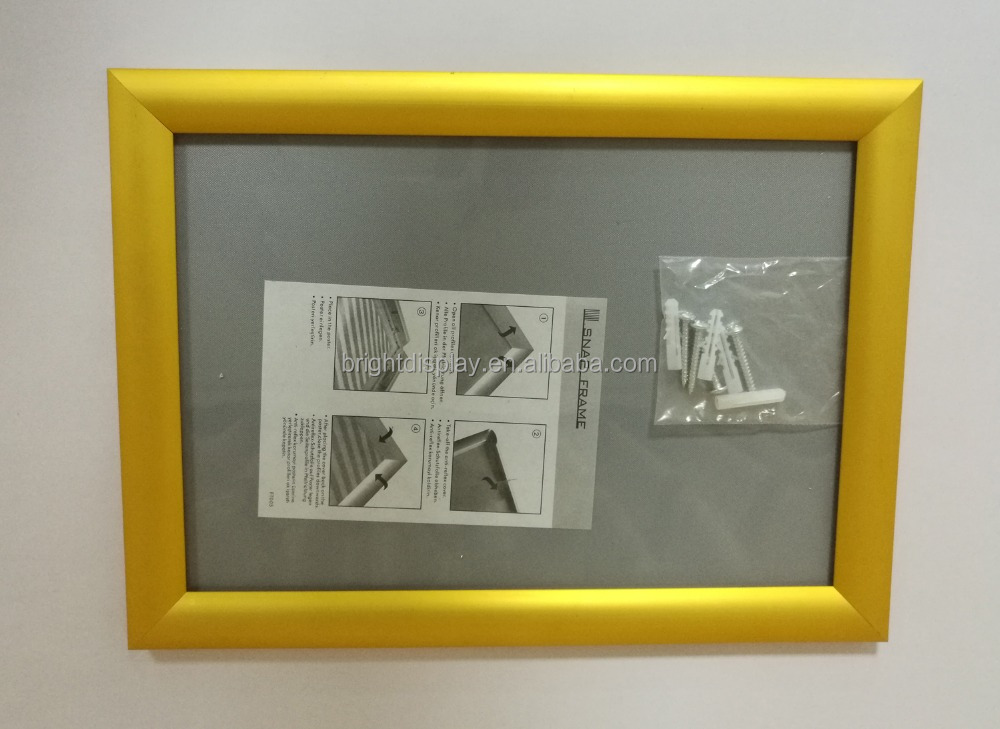 25mm silver/black/gold color snap frame <strong>poster</strong> frames <strong>poster</strong> snap frames