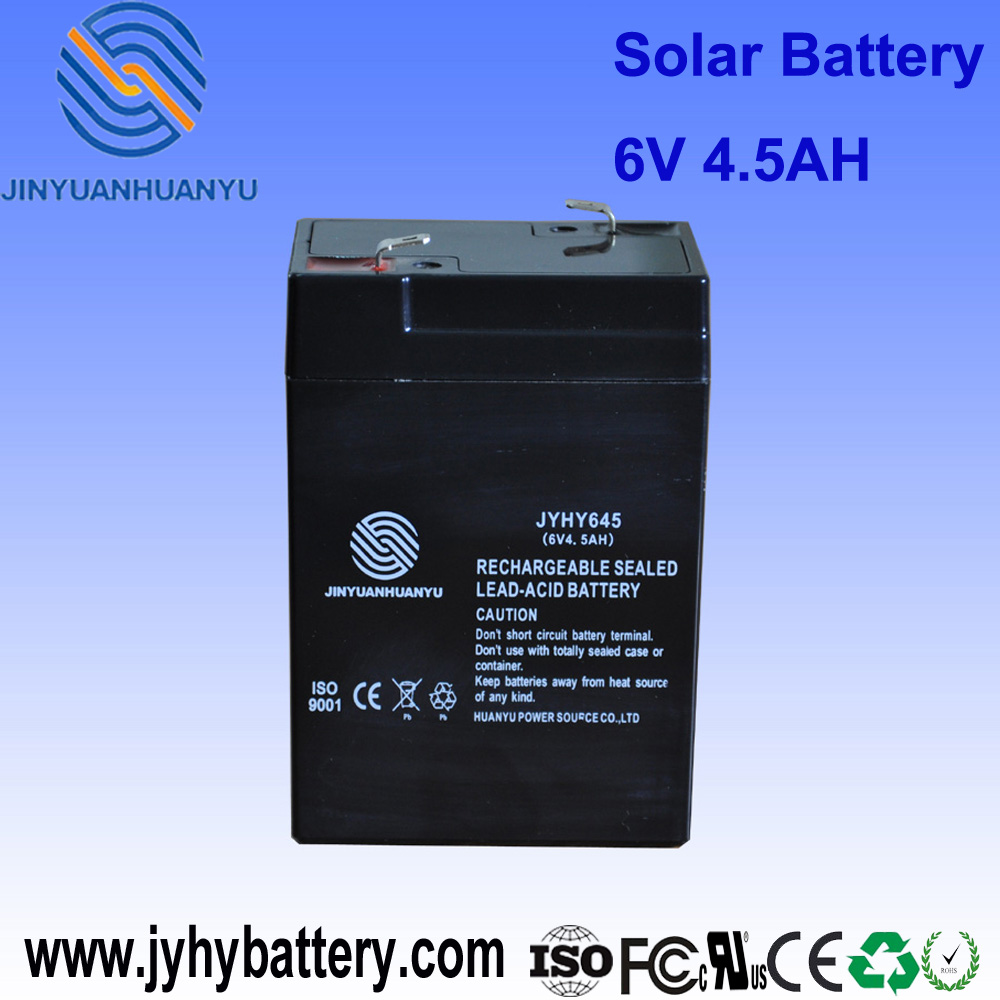 lead acid battery recycling equipment solar dry cell 6V battery