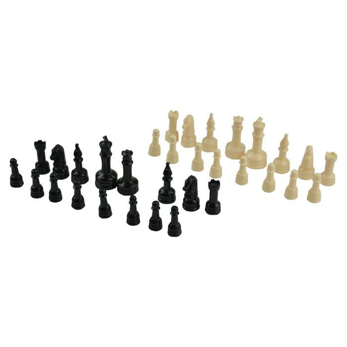 Giant Chess Draughts Outdoor Game Set, Plastic Chess Pieces