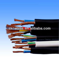 Euro type mulit conductor pvc insulated copper wire cable