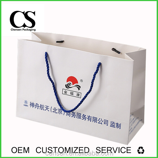 100% recycled customized print shopping synthetic strip paper bag