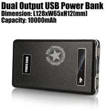 Business Gifts 10000mAh Slim Polymer Power Bank for Mobile Phones Made in China - Black