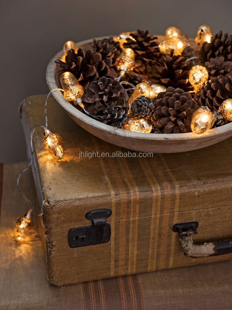 Cheap Wholesale Christmas New Acorn LED String Lights vintage village led lights circular