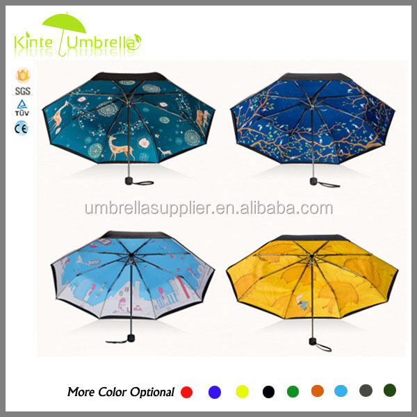Wholesale world map fabric water repellent umbrella