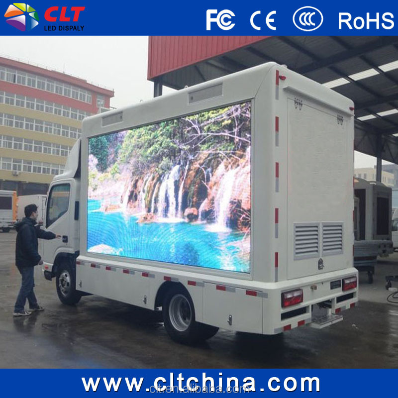 p16 led advertising panel/outdoor led screen for mobile truck