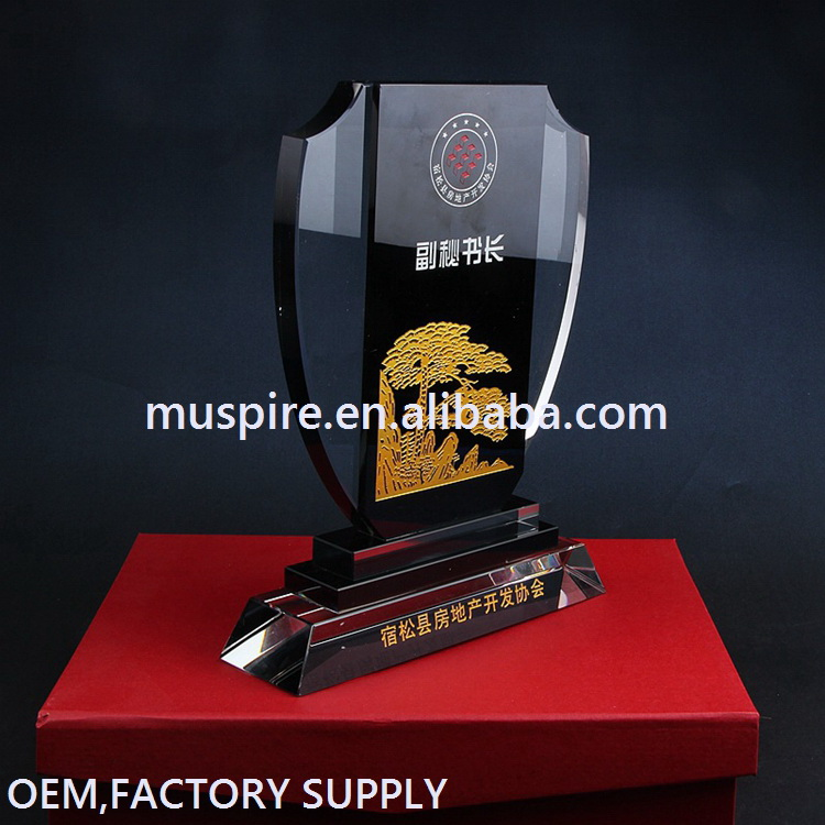 All kinds of latest design crystal blank trophy white glass award