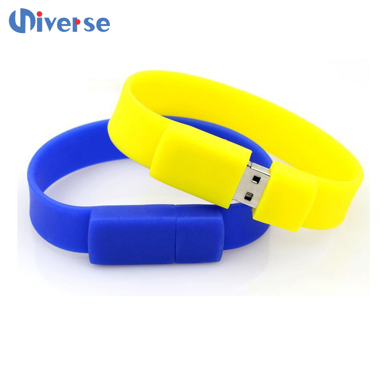 Good quality lower pirce usb flash drive bracelet, rubber usb flash drives, custom usb