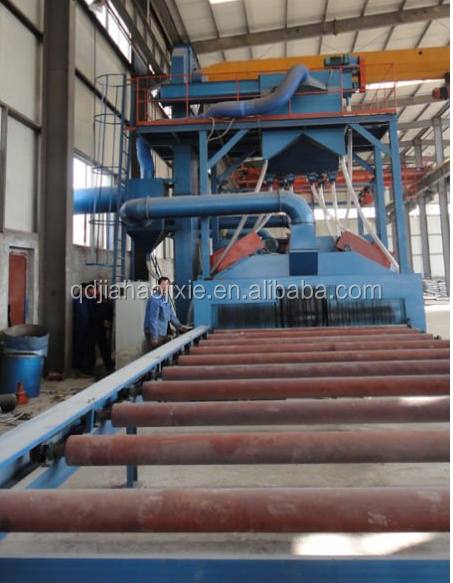 Q69 Series steel plate shot blasting machine,Steel surface strengthening cleaning equipment