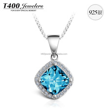 T400 crystal from swarovski joyerias 925 sterling plata pendant necklace for women 10626