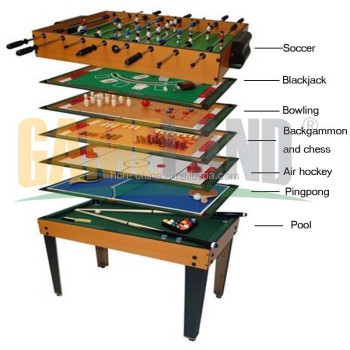 8 In 1 Multi Game Table Multifunction Game Table