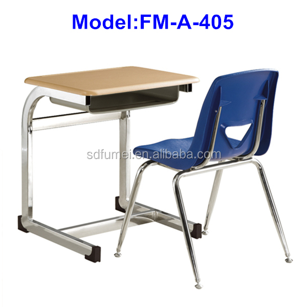FM-A-405 Wooden Single student desk chair for school