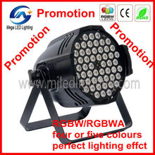 Best selling stage light 4 colors multi color 54pcs 3W rgbw led spotlight